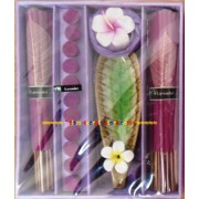Aromatic Lavender Incense Premium gift Set, Candle sticks Cones