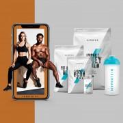 El Pack para Ganar Masa Muscular + Guía de entrenamientos y nutrición - Cola - Ponche de Frutas - Fresa Natural