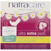 Absorbante bio Natracare Ultra Extra de noapte (3 picaturi), 12 buc