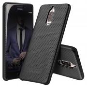 Huawei Mate 9 Pro, Mate 9 Porsche Design Qialino Mesh Leather Case - Black