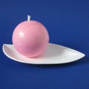 Bolkaars roze met kristalstructuur 10cm