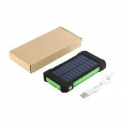 EY 300000mAh Portable Dual USB Compact Waterproof Powerful LED Light Solar Power Bank External Battery Charger With Hook