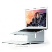 Shop4 - Laptop Houder MacBook 360 Graden Draaibaar Aluminium Zilver