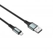 """""""Cablu Date Micro Usb to Type C Borofone BU24 Cool Silicone 1.2m Negru"""""""