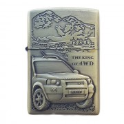 Bricheta tip zippo, 3D relief, metalica, king of 4wd m1