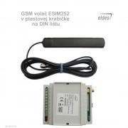 Eldes GSM volač ESIM252 v plastovej krabičke na DIN lištu