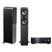 Pachete PROMO STEREO - Q Acoustics - 3050 + Yamaha A-S501 Walnut
