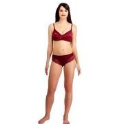 Fashion ComfortzKatty Maroon Lace bra & panty set for Womens Girls Ladies