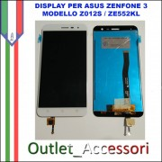 Display LCD Touch Asus Zenfone 3 Z012S ZE552KL 5,5'' Bianco Schermo Completo