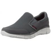 Skechers Men's Charcoal Mesh Nordic Walking Shoes - 9 UK/India (43 EU) (10 US)