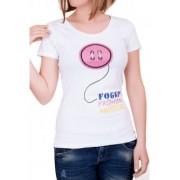 Бяла дамска тениска Foggy