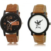 The Shopoholic Black Brown White Combo New Collection Black And Brown And White Dial Analog Watch For Boys Watches For Men Formal