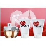 DKNY My NY lote de regalo II. eau de parfum 100 ml + leche corporal 100 ml + gel de ducha 100 ml