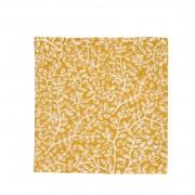 Dille&Kamille Serviette de table, coton bio, jauneà motif de rameaux, 40 x 40 cm