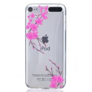 Roze bloemen TPU case iPod Touch 5 6 doorzichtig hoesje