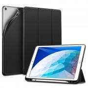 ESR Yippee Color Plus Case - полиуретанов калъф с поставка и отделение за Apple Pencil за iPad Air 3 (2019) (черен)