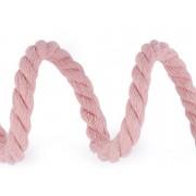 Sodrott zsinór, Ø10mm, 100% pamut, 5m, 510393, rózsaszín