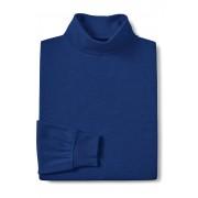 ランズエンド LANDS' END スーピマ・インターロック/タートルネック/長袖(ブルーインディゴヘザー)