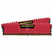 Corsair DDR4, 2400MHz 16GB 2 x 288 DIMM, Unbuffered, 14-16-16-31, Vengeance LPX Red Heat spreader, 1.20V, XMP 2.0, Supports 6th Intel Core i5/i7 CMK16GX4M2A2400C14R