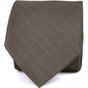 Krawatte Seide Dunkelbraun K82-1 - Braun