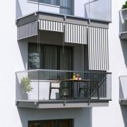 Jarolift Roleta na balkon/markiza pionowa, Szaro-biała, 160x140cm