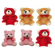 GMX Small Teddy Bears Set of 6 Pcs for Girls, Kids, Boys, Friends, Best Friend, Birthday