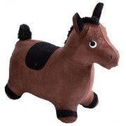 Jysk Partivarer Hopphäst - Häst i brun velour