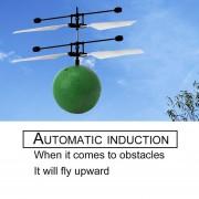 Eh RC Infrarrojos Inducción Helicóptero Aviones Flying Ball Con LED Kid Toy-Verde
