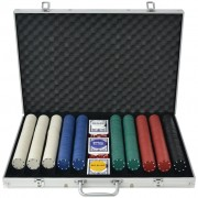 Sonata Покер комплект с 1000 чипа, алуминий