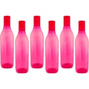 DP Tango Plastic Water Bottles 1000 ml Set of 6 Piece - pink