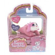 Puppy Surprise Mystery Puppy Pack, More Pups to Love! (Girl Puppy/Pink body, pink & white face)