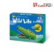 Colectia Animale Salbatice - Crocodilul - Puzzle 3D - 13 piese