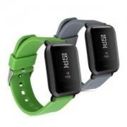 kwmobile 2x Náramek pro Xiaomi Huami Amazfit Bip Youth Edition - šedá, zelená