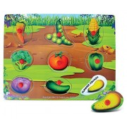 Puzzled Vegetables Educational Peg Wooden Puzzle - Vegetables Theme - Affordable Gift For Your Little One - Item #4375