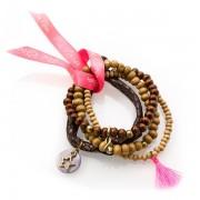 Pink Ribbon Armband