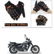 AutoStark Gloves KTM Bike Riding Gloves Orange and Black Riding Gloves Free Size For Bajaj Avenger 150 Street