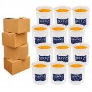 4 Baxuri 12 Lumanari Parfumate Orange cu 2 fitiluri din lemn