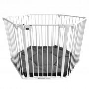 Noma 6-Panel Safety Gate/Playpen Modular Metal White 94023