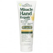 Miracle of Aloe Miracle Hand Repair Cream 8 Oz Lotion Relieves Dry, Cracked, Flaking Helping Hands Reduce Redness For Hands Elbows Knees Best Therapeutic Purest Whole Leaf Natural Aloe Vera Organic