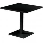 Emu Round tuintafel vierkant zwart 80x80