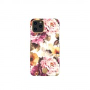 KINGXBAR Flower Series PC Phone Cover with Magnetic Sheet for Apple iPhone 11 6.1 inch - Peony