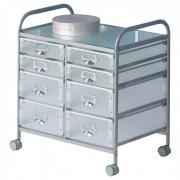 IDIMEX Caisson sur roulettes ROLI-2, 8 tiroirs, aluminium