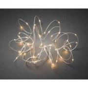 Konstsmide Micro LED lichtdraad wit met 50 extra warm witte lampen