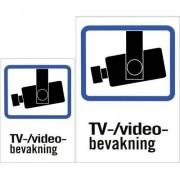 EPZI Plastskylt, TV/Video-bevakning, A4 & A5-storlek