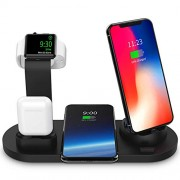 SODYSNAY Wireless Charger, 3 in 1 Wireless Charging Dock for Apple Watch and Airpods, Charging Station for Multiple Devices, Qi Fast Wireless Charging Stand Compatible iPhone X/XS/XR/Xs Max/8/8 Plus