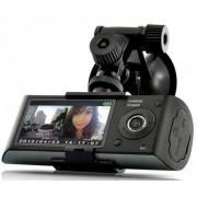 """Camera auto Dubla iUni Dash X3000, LCD 2.7"""", Senzor CMOS, GPS, Full HD (Negru)"""