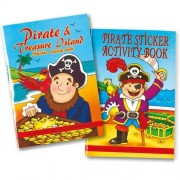 Pirate Activity Books - 6 pirate themed activity books. Includes stickers, dot-to-dot, colouring in & puzzles. Over 30 stickers per book. 14cm x 10cm.