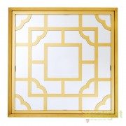 Oglinda decorativa cu rama de metal auriu Tory 100cm 109846 HZ