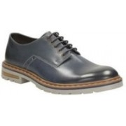 Clarks Dargo Walk Dark Blue Leather Lace up For Men(Blue)