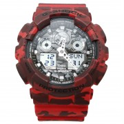Casio G-SHOCK Standard Analog-Digital Montre GA-100CM-4A - Rouge
